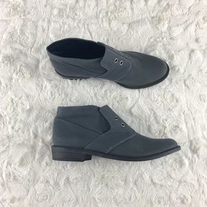 7 FOR ALL MANKIND Canvas Oxford Ankle Boots